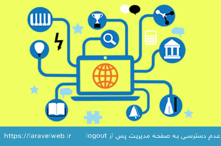 عدم دسترسی کاربران به صفحه مدیریت پس از logout در لاراول